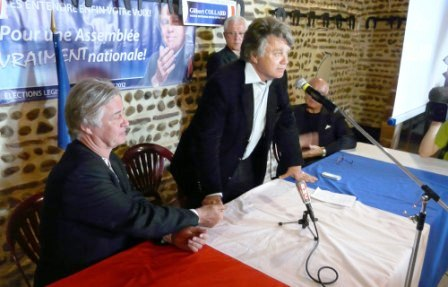 Denis Seznec soutient la candidature de Gilbert Collard du Front National.